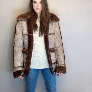 Vintage real shearling coat